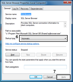 Enable SQL Browser