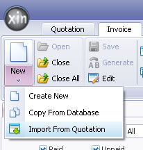 Create Invoice By Import Data From Quotation